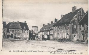 Coucy Le Chateau postcard